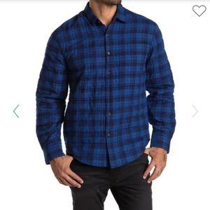 Thomas Dean Plaid Crinkled Shirt Jacket - US L